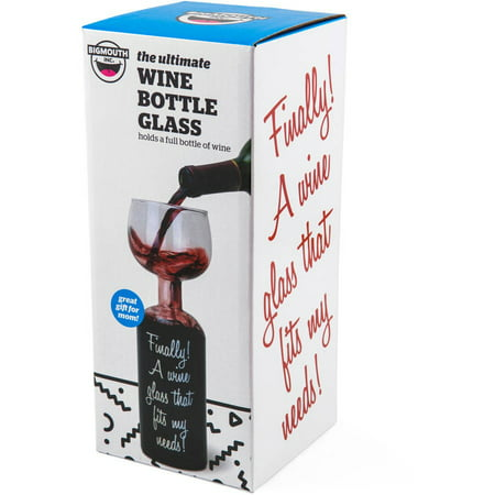 BigMouth Inc Wine Bottle Glass ()