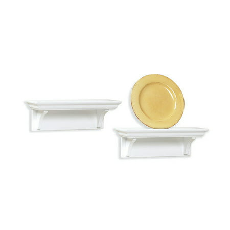 InPlace Shelving 0199140 Floating Wall Shelf Set, 10-Inch, White ()