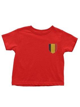 NYC FACTORY Belgium Flag Tee Infant Soccer Shirt T-Shirt Baby