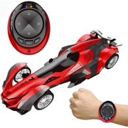Remote Control Car, High Speed Racing Car with USB Charger, Multi Function & LED Light, Smart Watch Voice Command Remote Control Car Red F-464