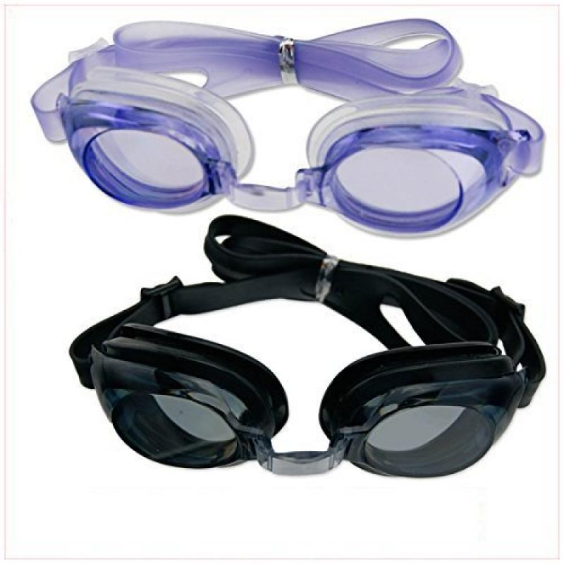 2 Pairs of Non-Fog Swim Goggles Soft Eye Cups Kids Adult by