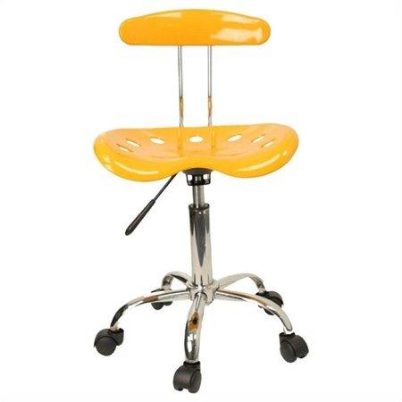 Scranton & Co Computer Task Office Chair in Yellow - image 4 de 4