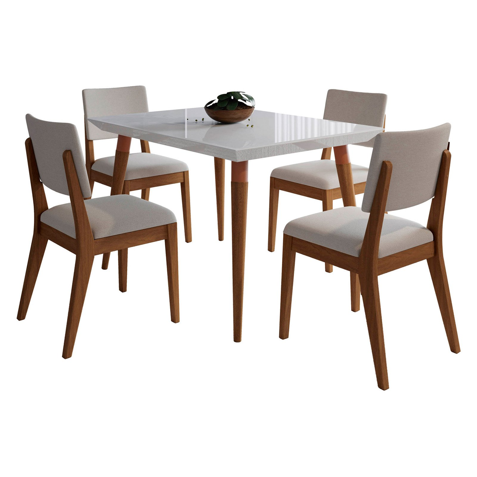 Manhattan Comfort Utopia and Dover 5 Piece Dining Table Set