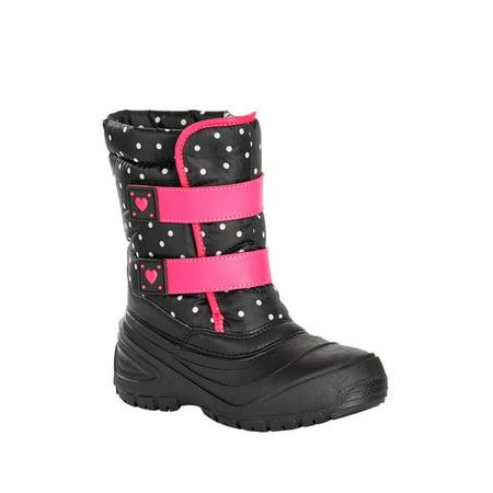 Wonder Nation Toddler Girls' Polka Dot Two-Strap Snow -