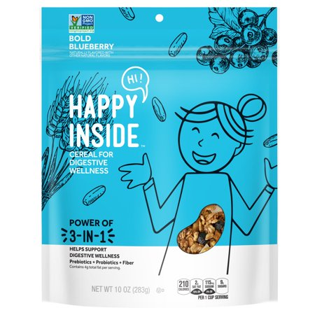 Kellogg's HI! Happy Inside Breakfast Cereal, Bold Blueberry, 10 Oz