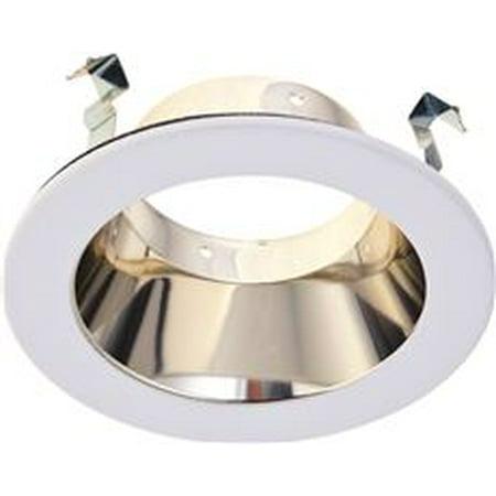 Open Alzak Trim - RECESSED LIGHTING ALZAK REFLECTOR TRIM 5 IN. BRASS WITH WHITE TRIM RING