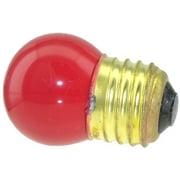 Novelty Light, 7.5-S11 Commerical Grade S11 Ceramic Replacement Bulbs, E26 Medium Base, 7 Watt, 25 Pack (Red)…