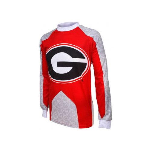 NCAA - Georgia Bulldogs Long Sleeve Mountain Bike Jersey