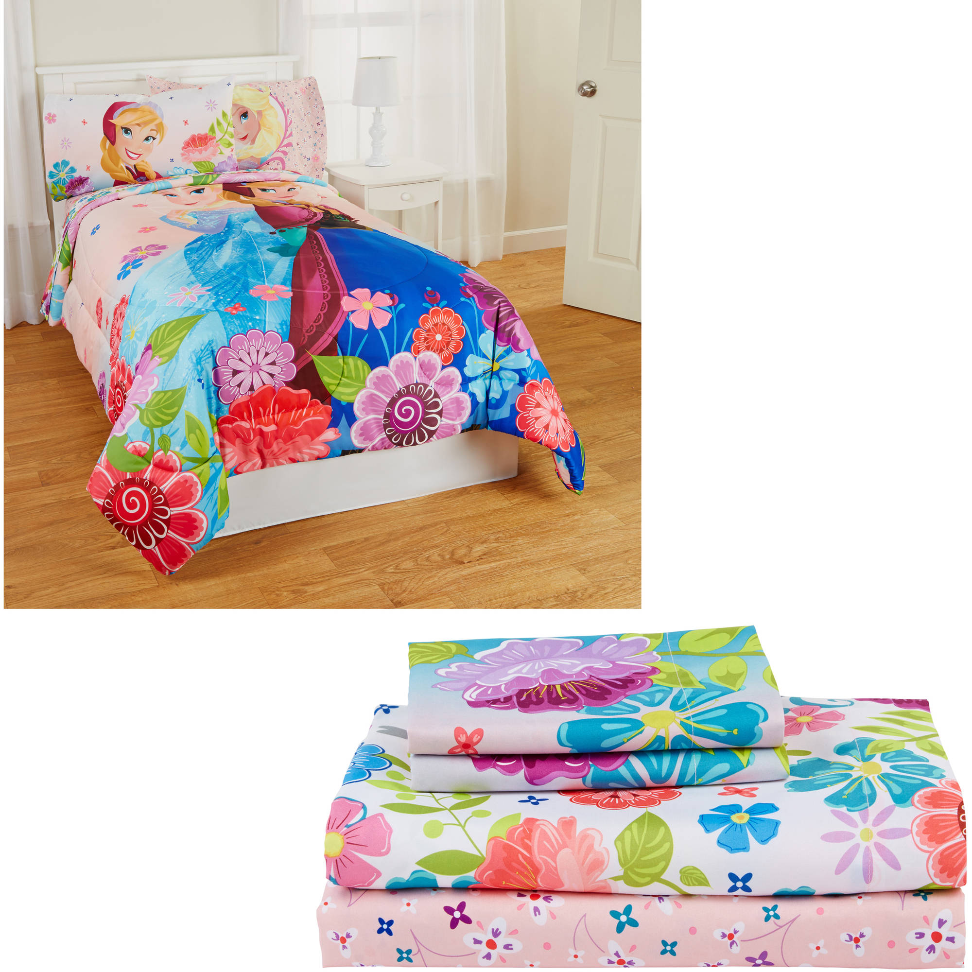 Disney's Frozen Reversible Full Bed in a Bag Bedding Set (comes with Full Sheet Set and Twin/Full Comforter)