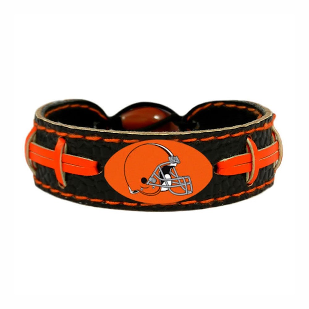 NFL Cleveland Browns Team Color Sports Team Logo Gamewear Leather Football Bracelet - image 2 of 2