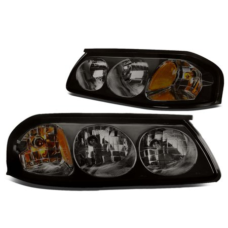 For 00-05 Chevy Impala 8th Gen Pair of Headlight Smoked Housing Amber Corner Headlamp 01 02 03 04 Left+Right