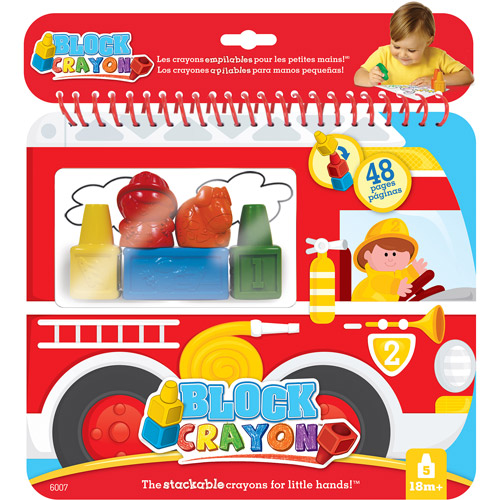 Block Crayon Fire Truck Coloring Book