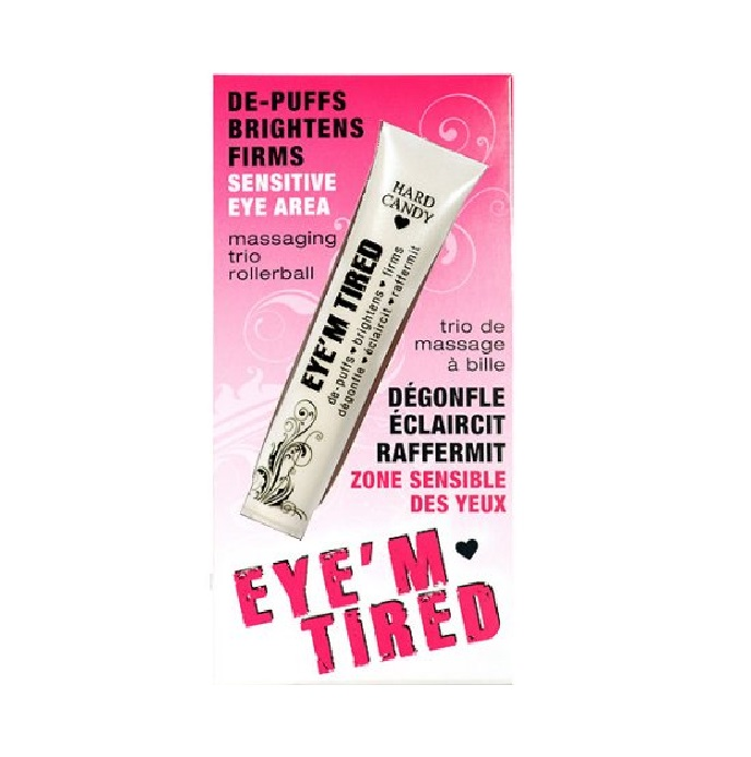 Hard Candy Eyem Tired, Lightweight Depuffing Eye Serum. 0.59 Oz + Schick Slim Twin ST for Dry Skin EcoTools Pure Complexion Sensitive Skin Facial Sponge 1 ea (Pack of 4)