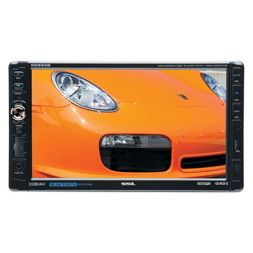 "Ssl Dd889b Car Dvd Player - 7"" Touchscreen Lcd - 340 W Rms - Double Din - Dvd Video, Mp4, Vcd - Am - Secure Digital [sd] - Bluetooth - Auxiliary Inputipod/iphone Compatible - In-dash (dd889b)"