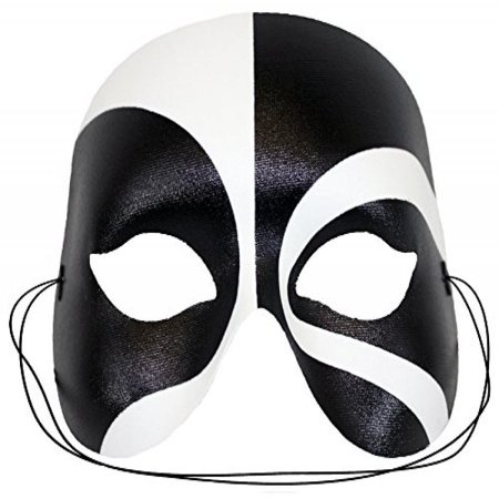 Masquerade Black-White Masquerade Mask for Men (Black Mens Masquerade Masks)