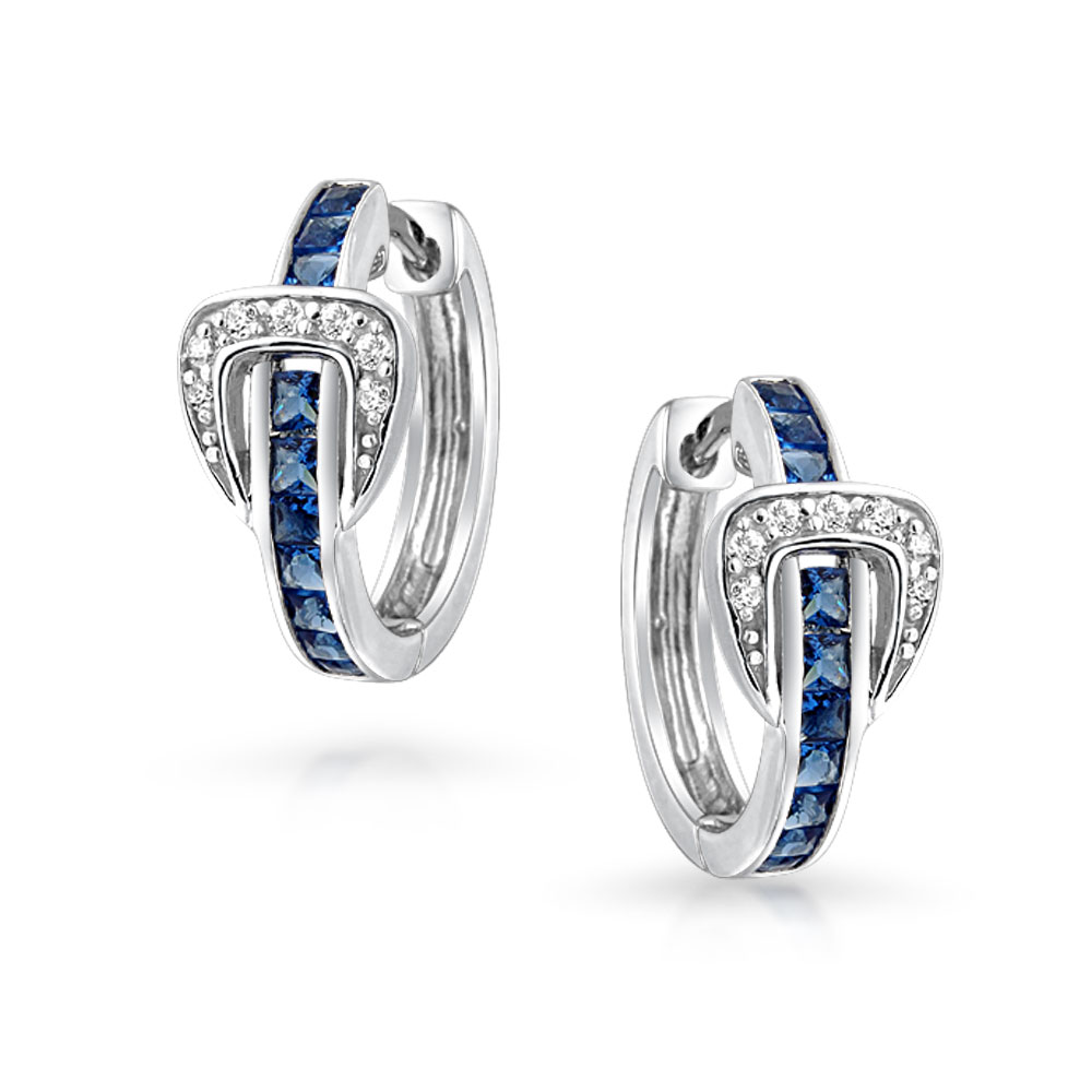 7//16 inch wide Sterling Silver Cubic Zirconia Micro Pave Fairy Stud Earrings