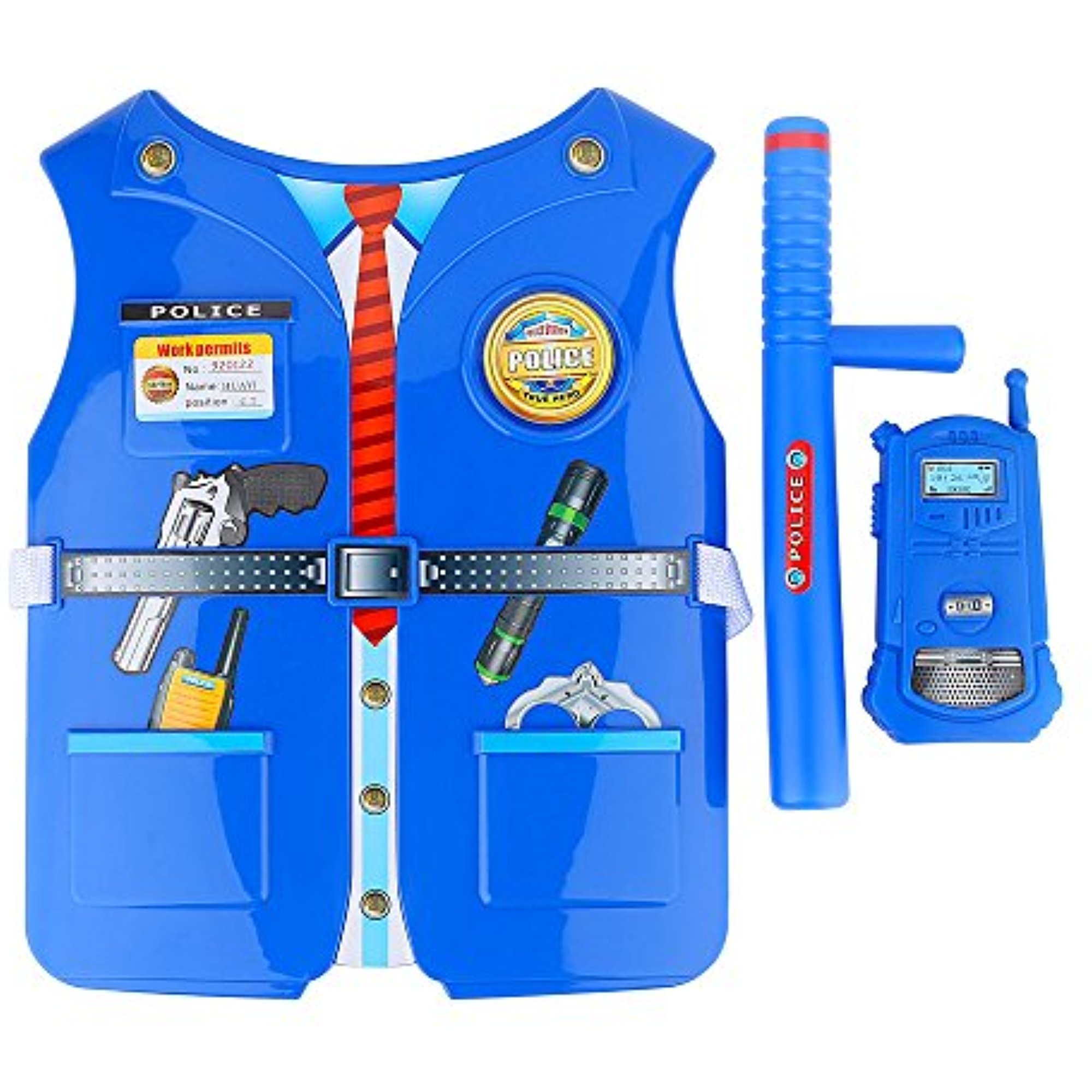 Kids Policeman Role Play Set Cosplay Costume Policeman Dress up Pretend Play Toys Kit