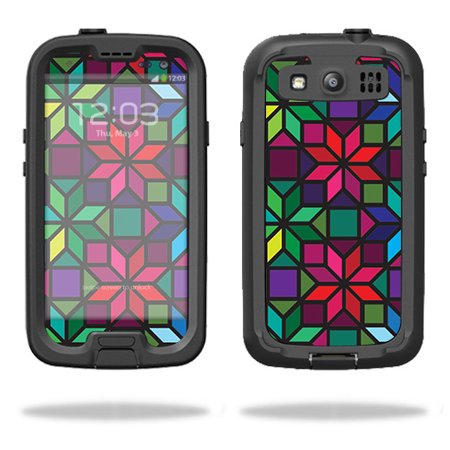 Skin Compatible With LifeProof Samsung Galaxy S III S3 Fre Case – Stained Glass Window   MightySkins Protective, Durable, and Unique Vinyl Decal wrap cover   Easy To Apply, Remove   Made in the USA Unique Stained Glass