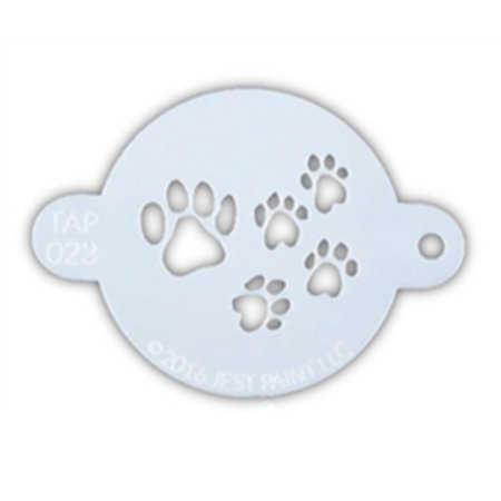 TAP 023 Face Painting Stencil - Paw Prints - Face Painting Stencils Printable Halloween