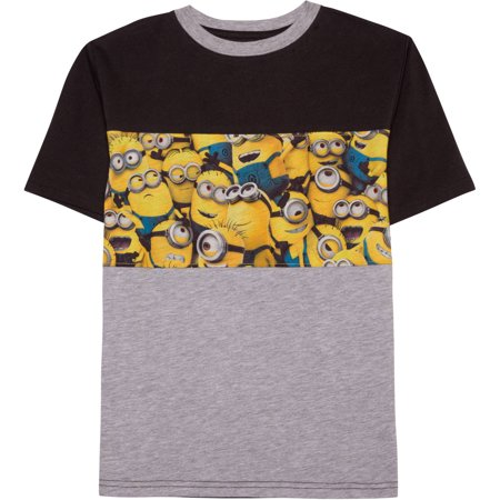 Minion Panel Short Sleeve Color Block T-Shirt (Little Boys & Big Boys) - One In A Minion Shirt