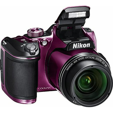 Nikon - COOLPIX B500 16.0-Megapixel Digital Camera - Plum