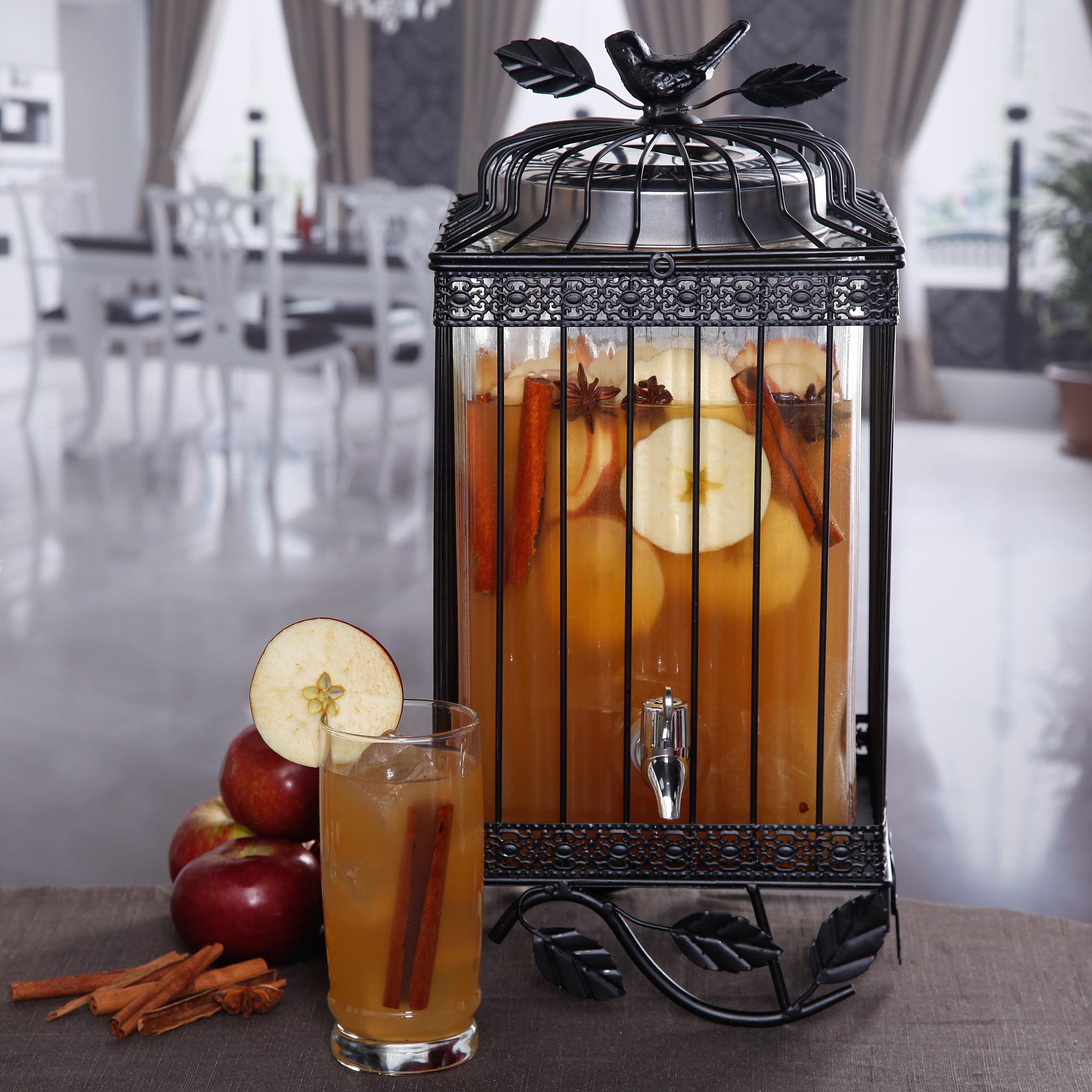 palais glassware hammered glass beverage dispenser - 2.25 gallon