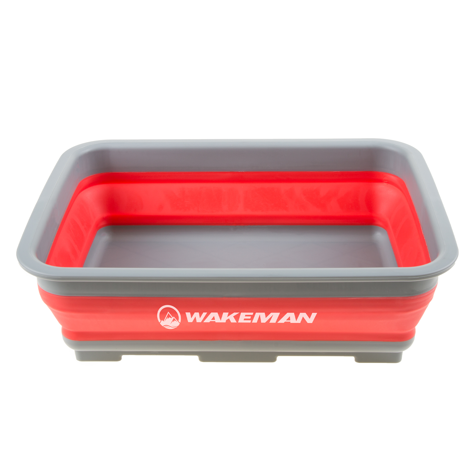 Wakeman Collapsible Multiuse Wash Bin- Portable Wash Basin//Dish Tub//Ice Bucket with 10 L Capacity for Camping Tailgating Blue 2 Pack More Outdoors