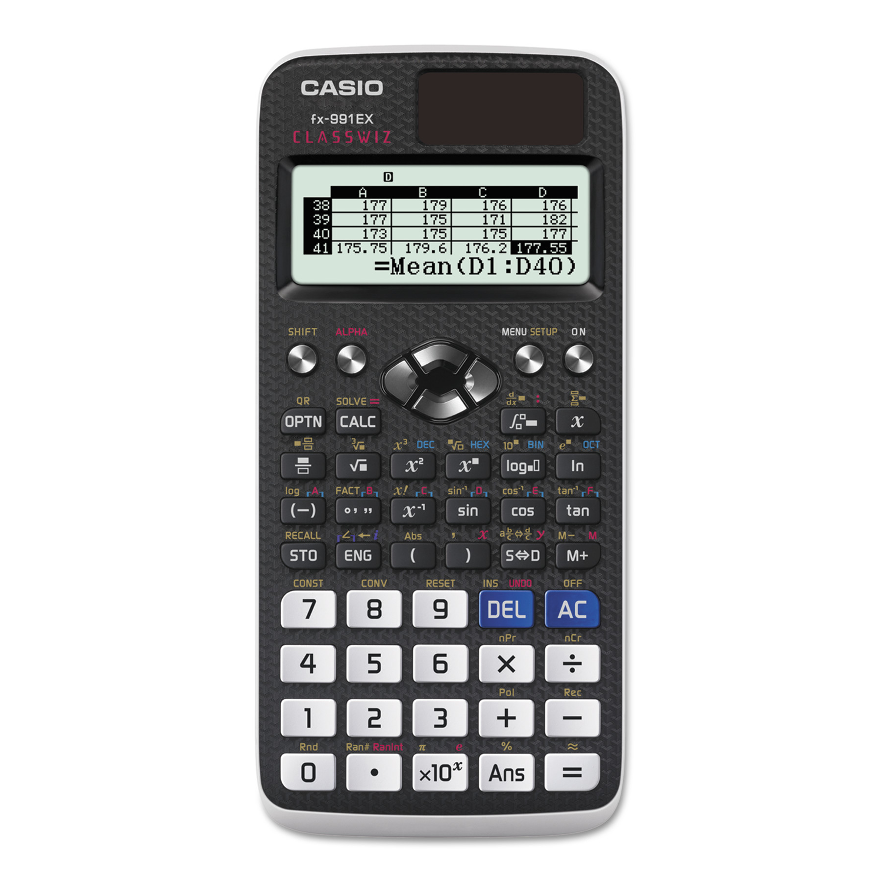 Casio FX-991EX Advanced Scientific Calculator, High Resolution LCD Screen