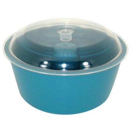 RAYTECH Vibratory Tumbler Bowl and Lid, 8In Dia
