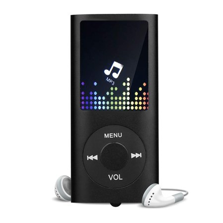 MP3 Player Touch Buttons with 2.4 inch Screen, 16GB Portable Lossless Digital Audio Player with FM Radio, Voice Recorder, Support up to 128GB, Black/White