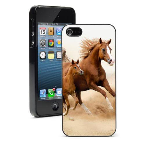 Apple iPhone (6 Plus / 6s Plus) Hard Back Case Cover Arabian Horse Running (Black)