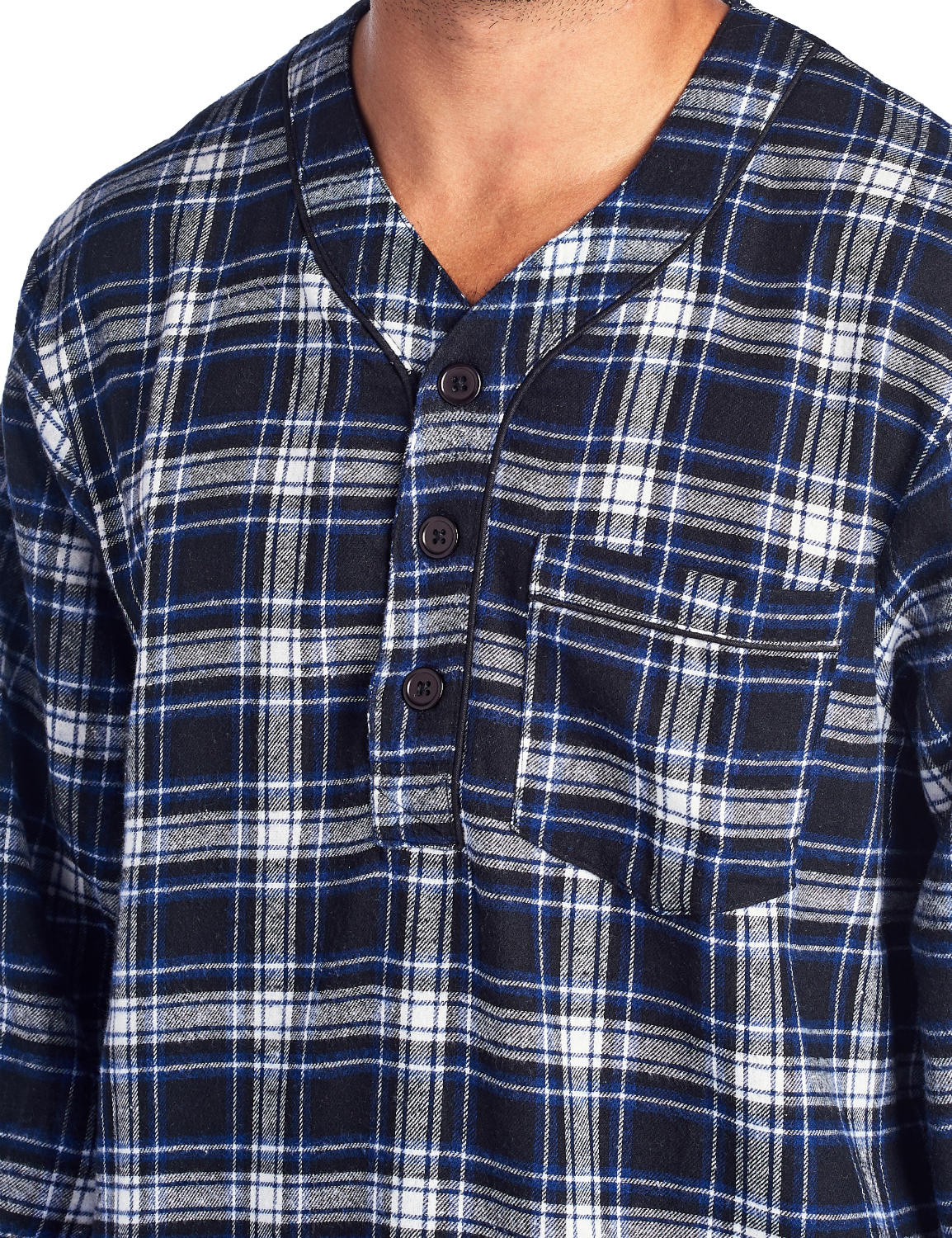 Ashford   Brooks - Ashford   Brooks Mens Flannel Plaid Long Sleep Shirt  Henley Nightshirt - Walmart.com 7f7ee4e05