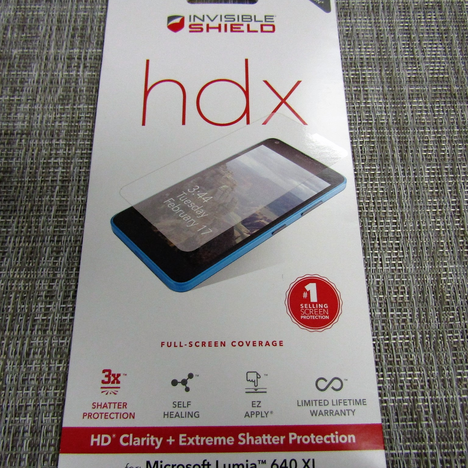 Invisible Shield hdx HD Clarity + Extreme Shatter Protection for the Microsoft Muia 640 XL