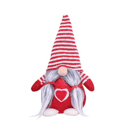 Christmas Decorations Gift Birthday Present, Handmade Plush Tomte Gnome Swedish Scandinavian Santa, Holiday Home Table Decor Ornaments ()