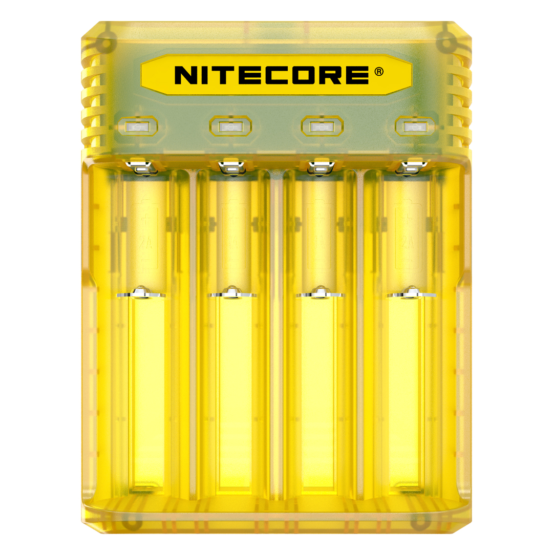 Nitecore Q4 4-Slot Universal IMR/Li-Ion Battery Charger (Blackberry)