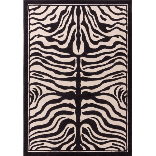 "Well Woven Dulcet Zebra Animal Print Area Rug, Ivory, 9'3"" x 12'6"""