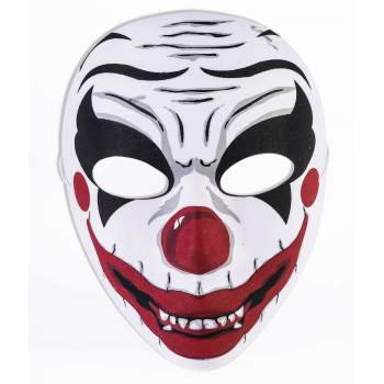 MASK - EVIL CLOWN HALF - Evil Clown Masks For Sale