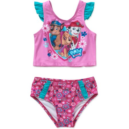 be9145485c PAW Patrol - Chase, Skye, and Everest Toddler Girl Tankini Swimsuit -  Walmart.com