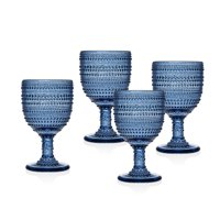 Lumina Blue Goblets 9 oz. Set of 4 by Godinger
