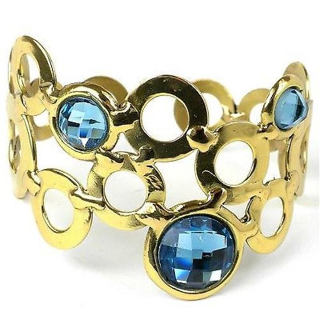 Brass Images Sky Blue Bubble Brass Cuff