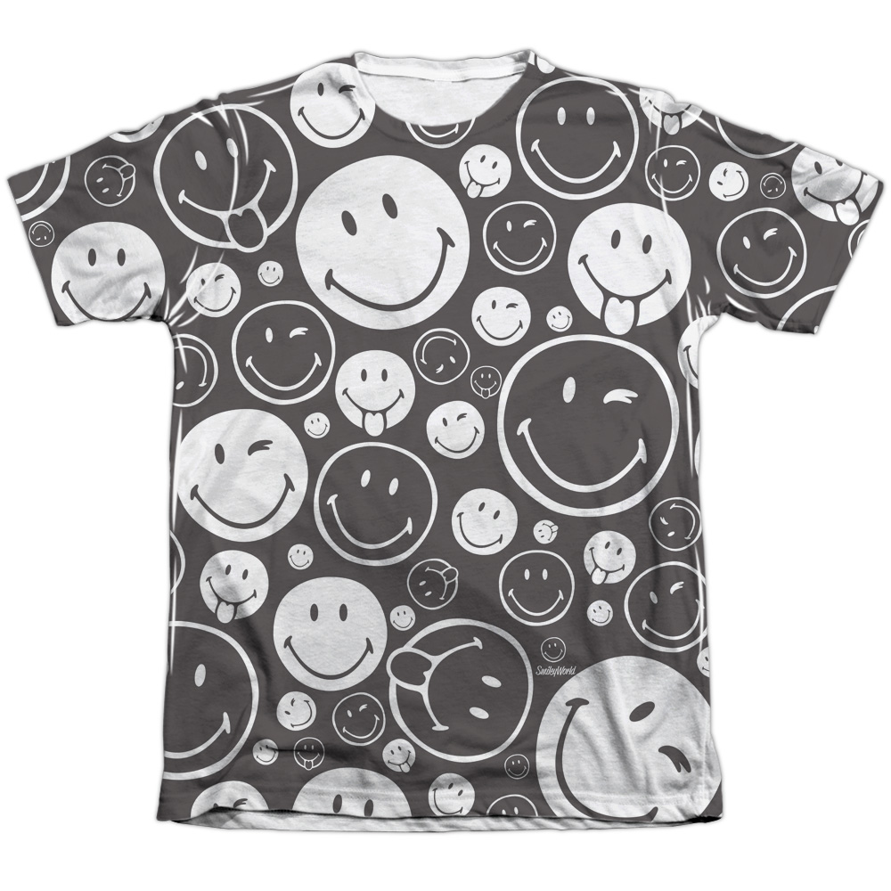 Smiley World Smiles All Around (Front Back Print) Mens Sublimation Shirt