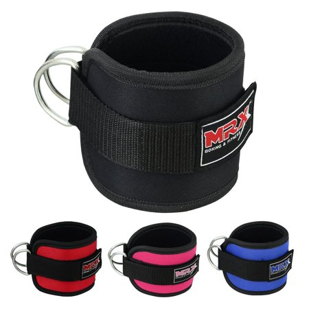 MRX WEIGHT LIFTING ANKLE D RING STRAPS - Black Single Strap