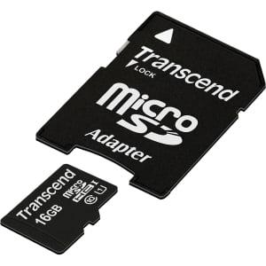 Transcend Premium 16GB microSDXC/SDHC Class 10 UHS-I 400x Memory Card w/ Adapter