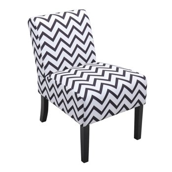 Jaxpety Large Single Leisure Sofa Accent Chair Armless (Black/White)