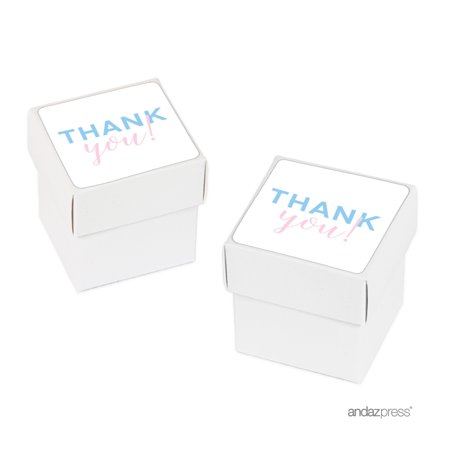 Signature Pink and Blue Gender Reveal Baby Shower, Favor Boxes, 20-Pack](Gender Reveal Boxes)