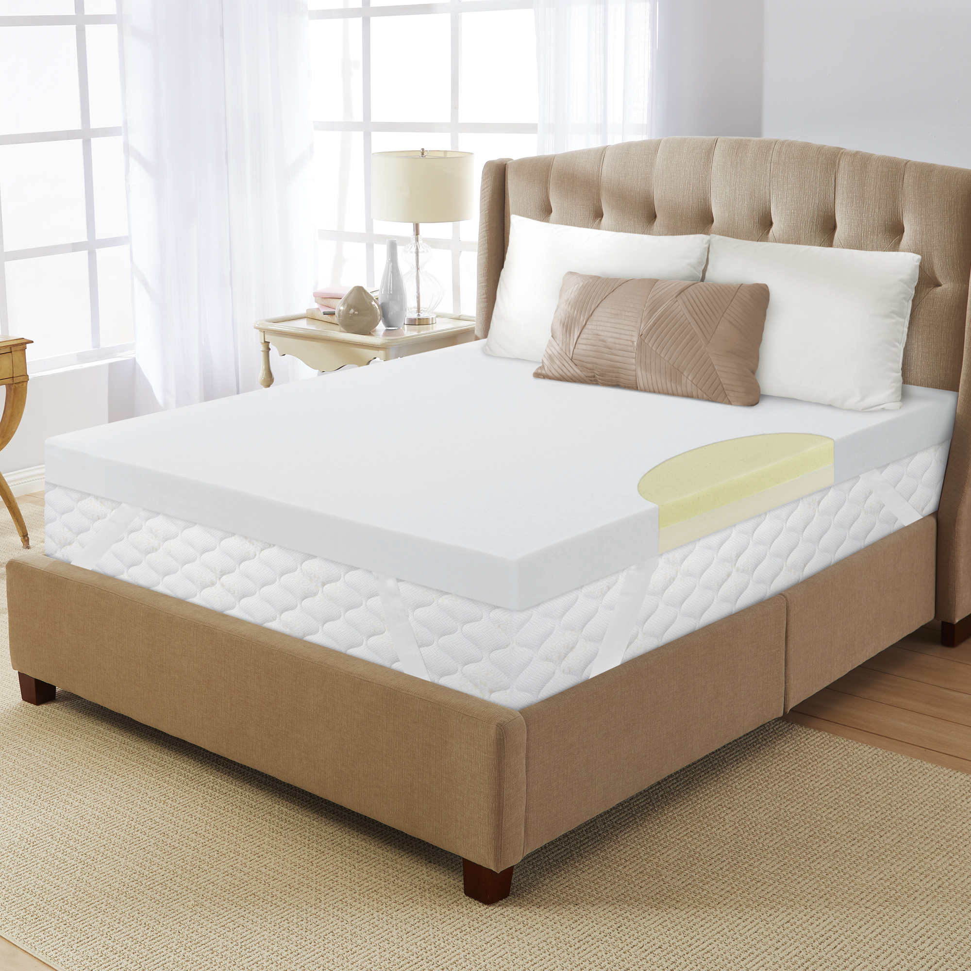dream serenity 4 true support mattress topper walmart com