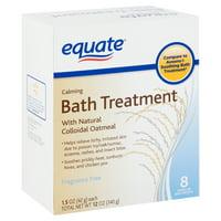 Equate Calming Oatmeal Bath Treatment, 1.5 Oz. 8 Count