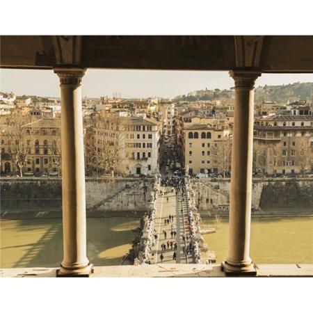 Castel Santangelo Bridge Santangleo & River Tiber - Rome Lazio Italy Poster Print - 17 x 13 in. - image 1 of 1