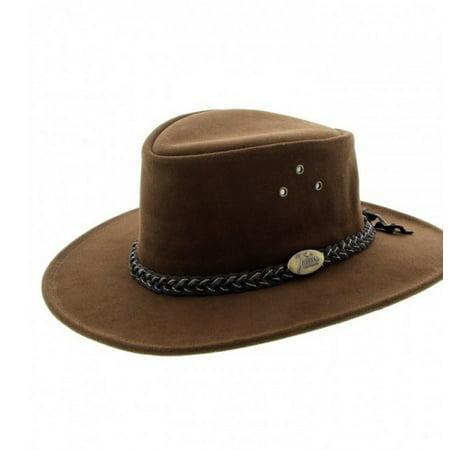 Jacaru Cowboy Hat Mens Brush Suede Vented Wallaroo Suede - Wallaroo Hat Company