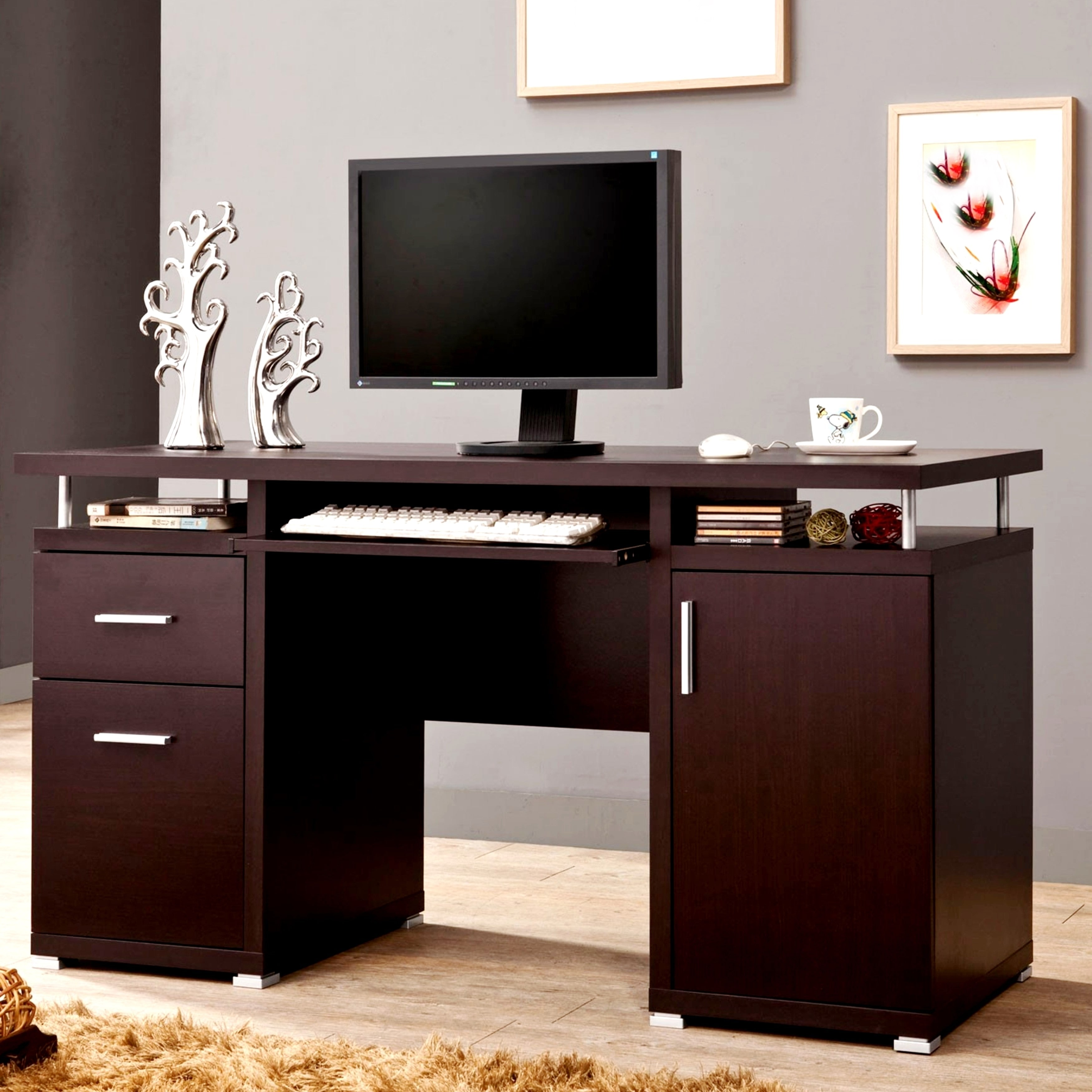 Furniture For A Best Home Office: A Line Furniture Modern Floating Top Design Home Office